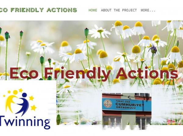 2017-2018 Eco-Friendly Actions e-Twinning Projesi